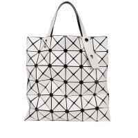 手拿包女款潮流女包手提包女三角拼接镭射折叠包几何菱格潮女士大包包 竖款 呀白色