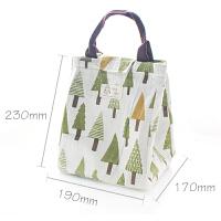 尼家文具●大号帆布手提保温便当包饭盒袋日本装午餐带饭袋子防水