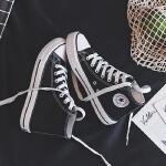 帆布鞋女鞋夏季新款休闲板鞋女学生透气跑步鞋韩版情侣女士运动时尚小白鞋