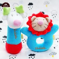 丛林伙伴摇铃套装0-6个月婴儿毛绒布艺玩具新生儿安抚玩偶