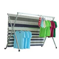 家用晾衣架落地折叠晒衣架 简易X型室内凉衣服架挂被双杆式阳台