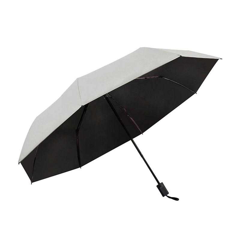 晴雨伞防晒伞女遮阳伞黑胶太阳伞三折两用伞