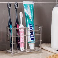 卫生间浴室沥水收纳架不锈钢牙刷架放牙膏架洗漱牙具座置物架