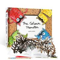 英文原版 我的情绪小怪兽 立体书 3D绘本 儿童情绪管理 The Colour Monster by Anna Llen