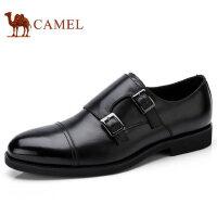 camel 骆驼男鞋秋季新品商务正装男士尖头真皮男英伦低帮皮鞋