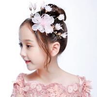 儿童发饰女童头饰粉色女孩淑女花朵头花发箍花环发夹饰品花童配饰