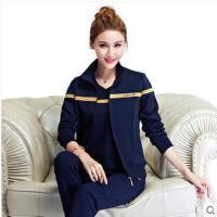 女款时尚立领韩版中年大码妈妈装三件套装中老年女士运动服套装