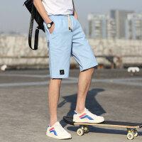 花花公子贵宾&Brush Finch合作款 男装夏休闲短裤男五分沙滩裤马裤短运动裤