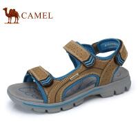camel骆驼男鞋 夏季新品 户外休闲沙滩鞋男士透气牛皮露趾凉鞋