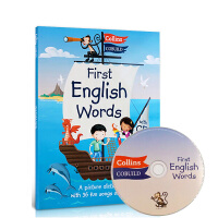 Collins First English Words+CD 儿童图解词典英文进口原版 汪培�E 科林斯英语单词书 3-