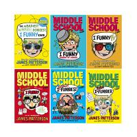 Middle School 系列 英文原版 上学不容易 I Funny 3册合售 撞墙吐槽日记 詹姆斯・帕特森 Jam