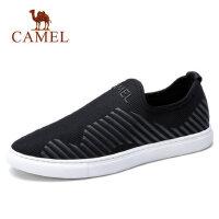 camel 骆驼男鞋运动鞋男弹力布网鞋套脚轻便跑步运动鞋滑板鞋