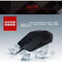 S66 有线鼠标 (USB接口办公游戏鼠标 笔记本台式机光电 家用商务男女通用)