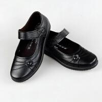 春秋妈妈鞋单鞋圆头老人皮鞋女休闲工作鞋中老年女鞋奶奶鞋子 B56 黑色