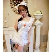 情趣女内衣 性感透明护士服清纯女佣制服可爱女仆系带激情套装短裙SM 均码[蕾丝边改版窄边]