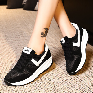 ZHR2017春季新款运动鞋女跑步鞋韩版潮厚底休闲女鞋百搭平底单鞋M120