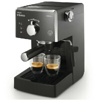 飞利浦咖啡机HD8323/05家用速溶咖啡机 Saeco意式半自动咖啡机 经典泡奶器