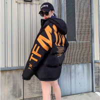 insoversize女冬港风chic嘻哈潮外套面包服短款棉袄2018新款