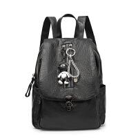 女式双肩包女背包时尚女包休闲学生书包旅行包流浪包