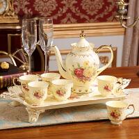 欧式陶瓷咖啡具套装英式下午花茶红茶杯茶具托盘高档结婚礼物实用 8件