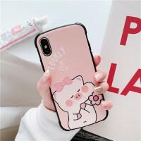 可爱粉色女生少女心iphonex/xr手机壳苹果6s7plus硅胶软8p女款 6/6s 4.7 粉底lovely花朵猪