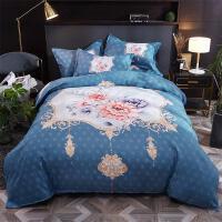 20191107212218824全棉斜纹三件套 四件套欧美风大版印花纯棉床单被套床上用品1.5/1.8/2.0