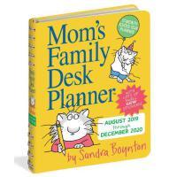 现货 妈妈的家庭桌面计划日历2020 软封面装订 待办清单 英文原版 Mom's Family Desk Planner Calendar 2020