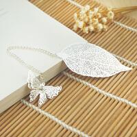 金属叶子羽毛叶脉书签中国风古典创意古风礼物闺蜜女友生日礼品