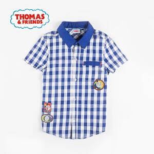 [满200减100]托马斯童装正版授权男童夏装全棉短袖衬衫卡通上衣