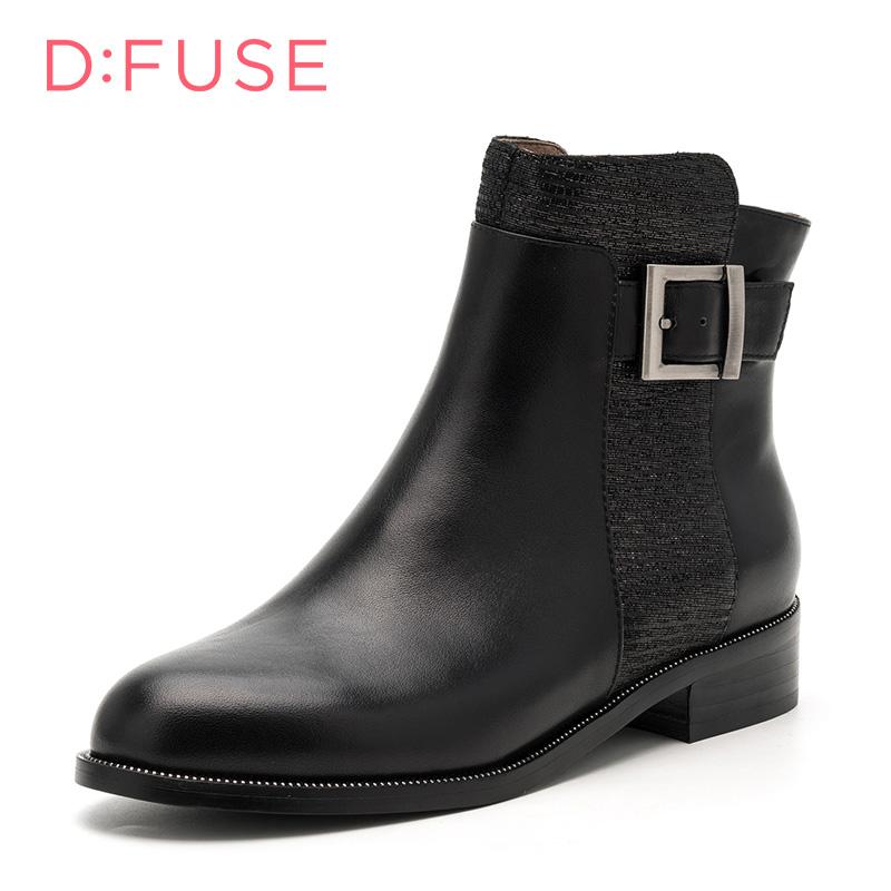 迪芙斯D:FUSE牛皮尖头低跟套脚金属深口女鞋DF641172242月20日-2月26日,每满100减50
