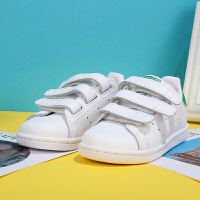 【满199减20,满399减40】幸运叶子 Adidas阿迪达斯童鞋春秋男女婴童魔术贴休闲板鞋BZ0520
