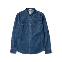 Levi's /李维斯 经典款纯棉水洗牛仔衬衫男长袖衬衣