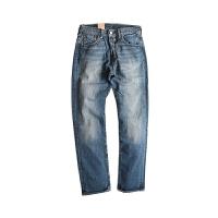 Levis/李维斯牛仔裤 2017年新款男士501水洗直筒浅色牛仔长裤