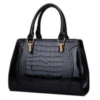 新款女包漆皮鳄鱼纹定型包手提单肩斜挎欧美时尚潮流女士包包