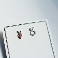 兔子萝卜精灵耳夹女简约清新无耳洞耳钉耳环无洞耳饰