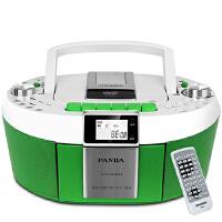 熊猫(PANDA) CD-820 数码DVD复读播放机CD胎教机磁带录音机收音收录机MP3播放器音响(绿色)
