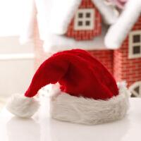 圣诞装饰品 创意长毛绒加厚圣诞帽 圣诞节饰品装饰圣诞帽子