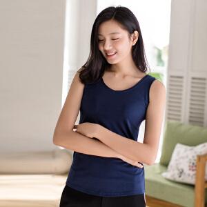 包邮 茵曼内衣 时尚随性卷边 透气棉 吊带背心女打底衫上衣9871033156