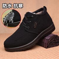 老北京布鞋男棉鞋冬季加厚保暖长毛绒中老年爸爸棉靴软底防滑男鞋