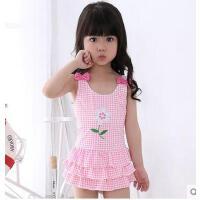 新款女童泳衣韩国连体裙女孩可爱儿童泳衣式公主宝宝中小幼童可礼品卡支付