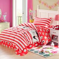 纯棉学生宿舍被套单人床上三件套床品 儿童床单1.2米1.5米床上用品全棉