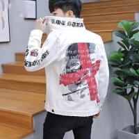 牛仔外套男秋季新款修身韩版帅气个性衣服青少年学生非主流夹克潮