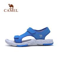 camel骆驼夏季儿童露趾户外凉鞋男童防滑魔术贴沙滩鞋