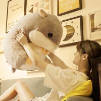 可爱仓鼠抱枕娃娃公仔玩偶毛绒玩具大号床上睡觉布偶生日礼物女生
