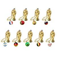 2018俄罗斯世界杯足球球迷用品礼品纪念品巴西足球汽车钥匙扣