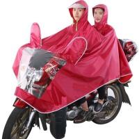 电动车雨衣反光型透明大帽檐加大双人摩托车雨衣雨披