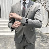 小西装套装男士正装休闲英伦风西服青年韩版新郎帅气修身外套男潮