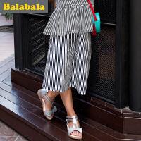 巴拉巴拉女童短裤中大童2017夏装新款童装七分裤儿童中裤女