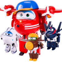 奥迪双钻超级飞侠玩具迷你变形机器人全套装小飞侠玩具 淘淘 金刚 酷雷 米莉
