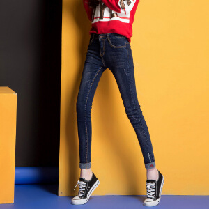 Modern idea女式新款牛仔裤弹力小脚铅笔裤百搭潮流时尚春款